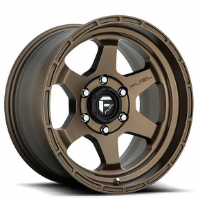 "20"" Fuel Wheels D666 Shok Matte Bronze Off-Road Rims"