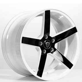 "20"" Staggered G-Line Wheels G5178 White with Black Face Rims"