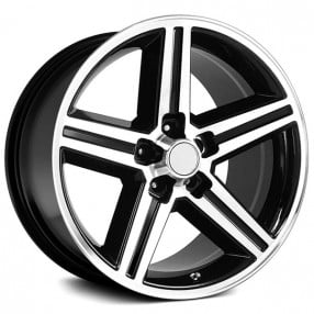 "22x8.5"" IROC Wheels Black Machined 5-lugs Rims"