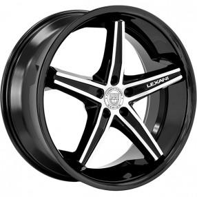 "20"" Staggered Lexani Wheels Fiorano Gloss Black Machined Rims"