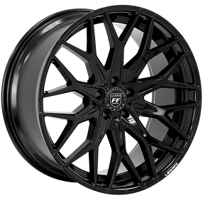 "22"" Staggered Lexani Wheels Morocco Full Gloss Black Rims"