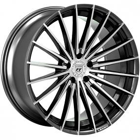 "20"" Staggered Lexani Wheels Ressa Black Machined Rims"