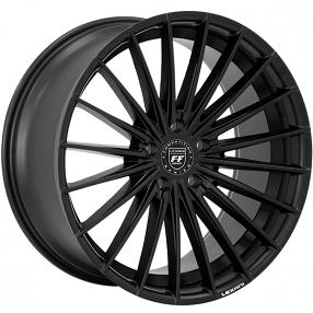"22"" Staggered Lexani Wheels Ressa Satin Black Rims"