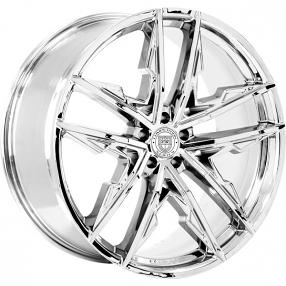 "20"" Staggered Lexani Wheels Venom Chrome Rims"