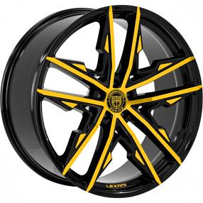 "22"" Staggered Lexani Wheels Venom Custom Finish Rims"