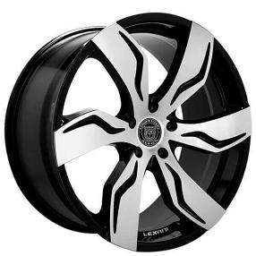 "22"" Staggered Lexani Wheels Zagato Gloss Black Machined Rims"