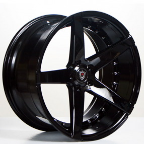 "20"" Staggered Marquee Wheels 3226 Black Extreme Concave Rims"