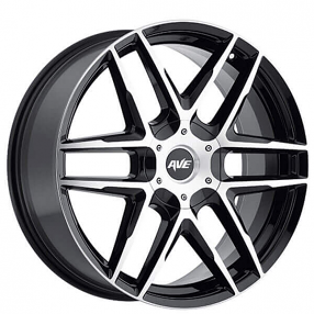 "18"" Avenue Wheels A613 Gloss Black Machined Rims"