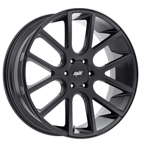 "18"" Avenue Wheels A614 Satin Black Rims"
