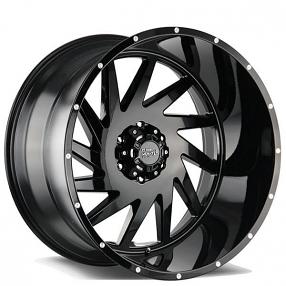 "20"" Off Road Monster Wheels M12 Matte Black Rims"
