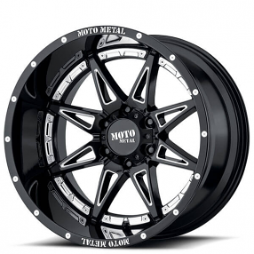 "17"" Moto Metal Wheels MO993 Hydra Gloss Black Milled Off-Road Rims"