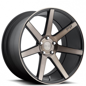 """17"""" Niche Wheels M150 Verona Black Machined with Dark Tint Rims"""
