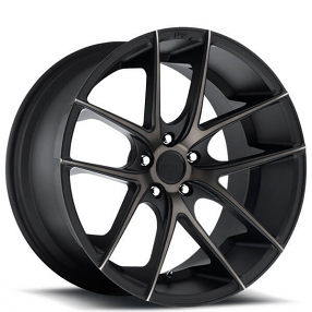 "18"" Niche Wheels M130 Targa Black Machined with Dark Tint Rims"