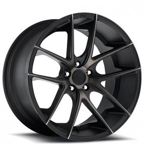 "17"" Niche Wheels M130 Targa Black Machined with Dark Tint Rims"