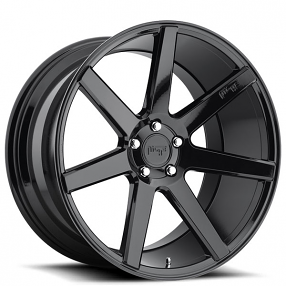 "20"" Staggered Niche Wheels M168 Verona Gloss Black Rims"