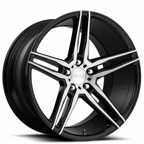"18"" Niche Wheels M169 Turin Brushed Gloss Black Rims"
