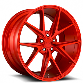 "20"" Staggered Niche Wheels M186 Misano Gloss Red Rims"