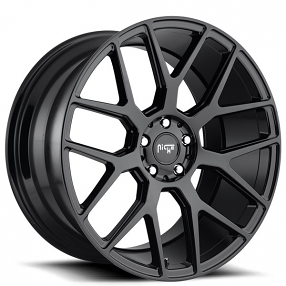"20"" Staggered Niche Wheels M189 Intake Gloss Black Rims"