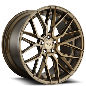 "20"" Staggered Niche Wheels M191 Gamma Matte Bronze Rims"