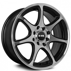 "15"" NS Wheels Tunner NS1203 Black Machined Rims"