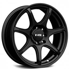 "15"" NS Wheels Tunner NS1203 Black Rims"