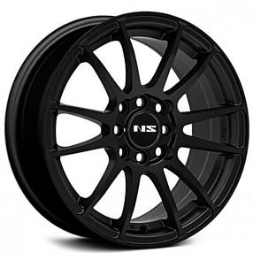 "16"" NS Wheels Tunner NS1204 Matte Black Rims"