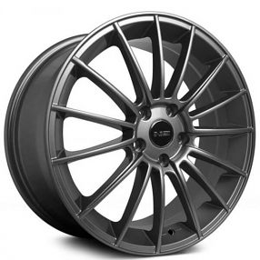 "18"" NS Wheels Tunner NS1402 Matte Titanium Rims"