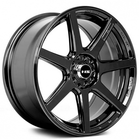 "17"" NS Wheels Tunner NS1407 Black Rims"
