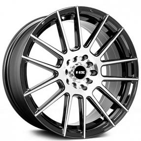 "17"" NS Wheels Tunner NS1408 Black Machined Rims"