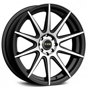 "16"" NS Wheels Tunner NS1501 Black Machined Rims"