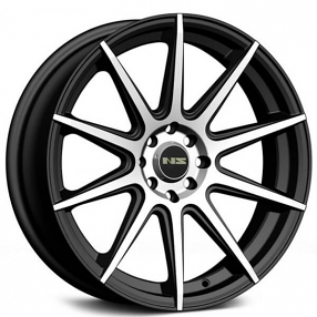 "17"" NS Wheels Tunner NS1501 Black Machined Rims"