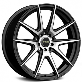 "18"" NS Wheels Tunner NS1503 Black Machined Rims"
