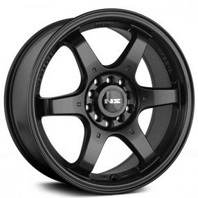 "15"" NS Wheels Tunner NS1507 Black Rims"