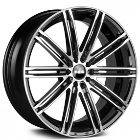 "15"" NS Wheels Tunner NS1601 Black Machined Rims"