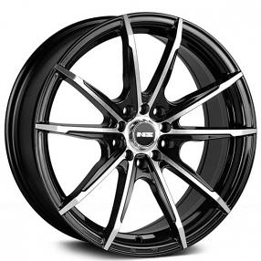 "17"" NS Wheels Tunner NS1602 Black Machined Rims"