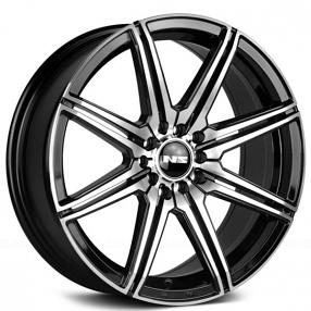 "15"" NS Wheels Tunner NS1603 Black Machined Rims"