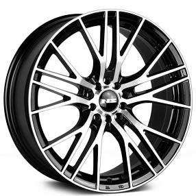 "17"" NS Wheels Tunner NS1604 Black Machined Rims"
