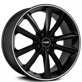 "17"" NS Wheels Tunner NS9012 Matte Black with Machined Lip Rims"