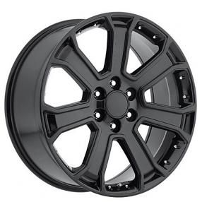 "22"" Yukon / Denali Wheels Gloss Black OEM Replica Rims"