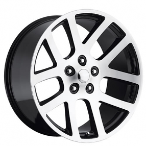 "24"" Dodge Ram SRT10 Wheels Black Machined OEM Replica Rims"