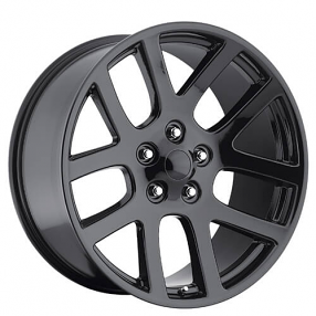 "24"" Dodge Ram SRT10 Wheels Gloss Black OEM Replica Rims"