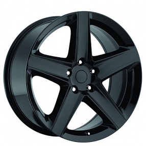 "22"" Jeep Grand Cherokee SRT8 Wheels Gloss Black OEM Replica Rims"