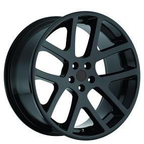 "22"" Staggered Dodge LX Viper Wheels Gloss Black OEM Replica Rims"