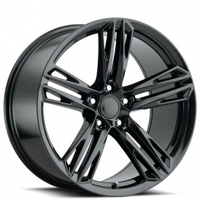 "20"" Staggered Chevy Camaro Wheels ZL1 1LE Gloss Black OEM Replica Rims"