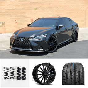 "2016 Lexus GS350 22"" Staggered Wheels+Tires+Suspension Package Deal"