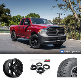 "2016 Dodge RAM 1500 20X10"" Wheels+Tires+Suspension Package Deal"
