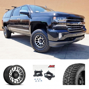 "2018 Chevy Silverado 1500 Z71 4WD 22x12"" Wheels+Tires+Suspension Package Deal"