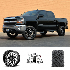 "2018 Chevy Silverado 1500 22x10"" Wheels+Tires+Suspension Package Deal"