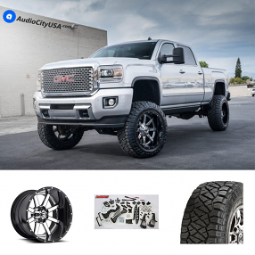 "2015 GMC Sierra HD2500 Denali 22x10"" Wheels+Tires+Suspension Package Deal"
