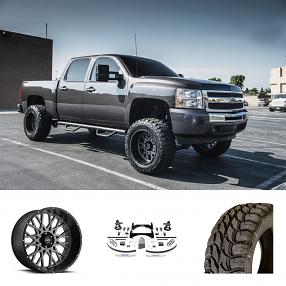 """2011 Chevrolet Silverado 1500 20x12"""" Wheels+Tires+Suspension Package Deal"""